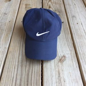 Nike dri-fit adjustable velcro strap hat Navy blue